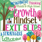 Growth Mindset Exit Slips & Strategies | Editable for All