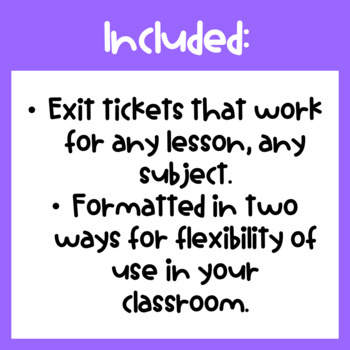 Growth Mindset Exit Slips for Any Lesson, Anytime