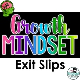 Growth Mindset Exit Slips for the Secondary Classroom