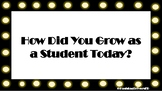 Growth Mindset Exit Tickets