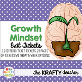 Growth Mindset Activities - Reflection Exit Tickets