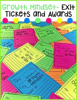 Growth Mindset Exit Tickets and Awards BUNDLE #spedschoolprep