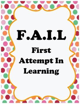 Growth Mindset FAIL Poster