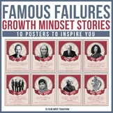 Growth Mindset Stories: Famous Failures Posters in Retro Design