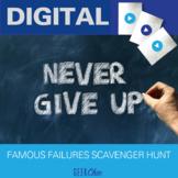 Growth Mindset - Famous Failures scavenger hunt! DIGITAL GOOGLE APPS