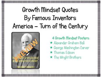 Growth Mindset Famous Inventor Posters