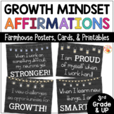 Growth Mindset Posters Farmhouse Bulletin Board Affirmations for Back-to-School