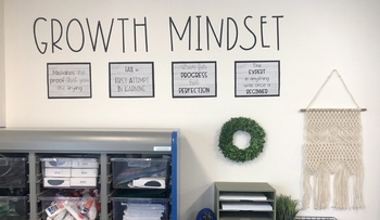 Growth Mindset Farmhouse Style Posters Signs