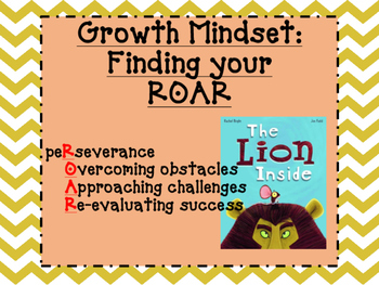 Growth Mindset/Fixed Mindset Activity Pack-Finding your Roar