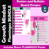 Growth Mindset Flamingos Posters and Bulletin Board Bundle