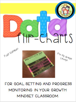 Growth Mindset Flip Books/ Flip Charts for Goal Setting and Progress Monitoring