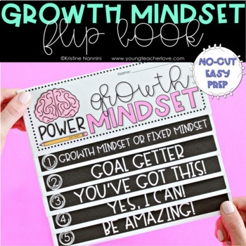 Growth Mindset Flip Book, Activities, and Printables