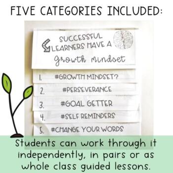 Growth Mindset Flipbook - Grade 3 - 6