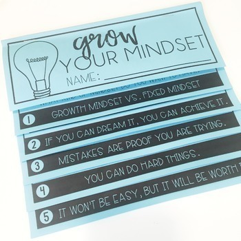 Growth Mindset Flipbook & Posters (with Digital Option)