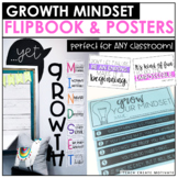 Distance Learning | Growth Mindset Flipbook & Posters | Di