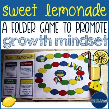 Growth Mindset Folder Game for Elementary School Counseling