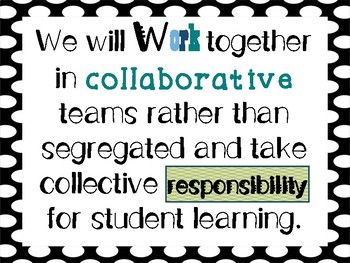 TEAL ~ Growth Mindset For Professional Learning Community Posters