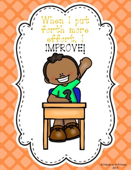 Growth Mindset Freebie-Set includes: Posters, Reward Certificates and Activities