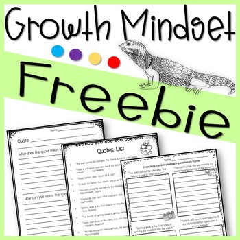 Growth Mindset Freebie Testing Motivation End of The Year