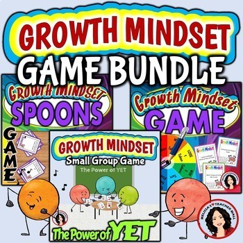 Growth Mindset Game Bundle - Spin & Win - Spoons - Power of YET
