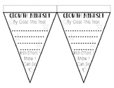 Growth Mindset Goal Setting Pennant