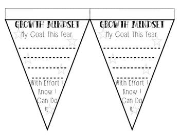 Growth Mindset Goal Setting Pennant