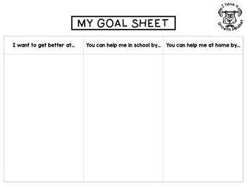 Growth Mindset Goal Setting Sheet- Free