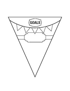 Growth Mindset Goals Pennant Banner