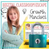 Growth Mindset Digital Escape Room Back to School Activities