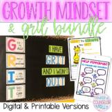 Growth Mindset & Grit Bundle, Digital & Printable Activities