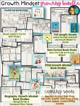 Growth Mindset- Growing Bundle-Book Studies- Save $15 w/ the BUNDLE:)