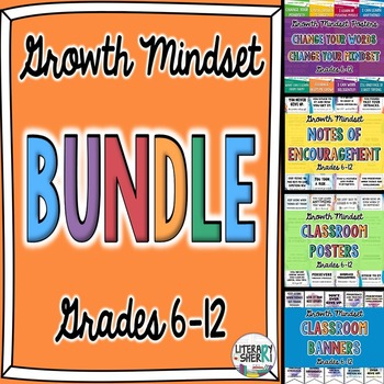 Growth Mindset Posters and Notes (Grades 6, 7, 8)