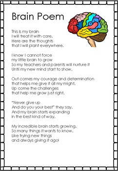 Growth Mindset- Growing a Brain and Plant Comparison