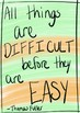 Growth Mindset Handwritten Quote Posters