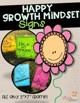 Growth Mindset Happy Classroom Signs