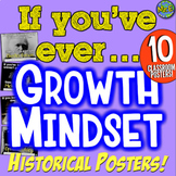 Growth Mindset Historical Posters: 10 Posters for Growth Mindset History Class!