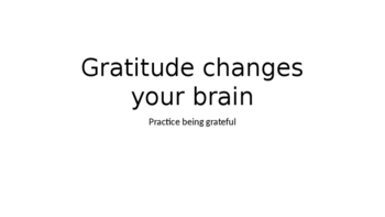 Growth Mindset-How gratidute can change your brain