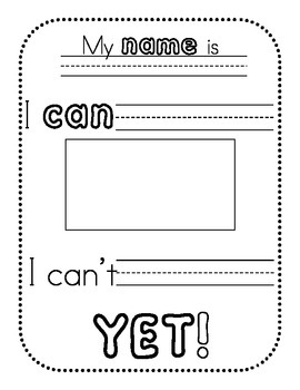 Growth Mindset I Can T Yet 3 Tiered Worksheets By Nicole Mias