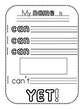 Growth Mindset - I Can't YET! (3 Tiered Worksheets)
