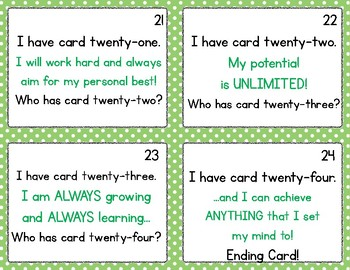 Growth Mindset I Have/Who Has Cards for BIG KIDS!