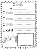 Growth Mindset - I can and I can't... yet
