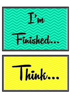 "Growth Mindset ""I'm Finished"" Display"