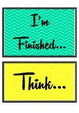 "Growth Mindset ""I'm Finished"" Display"