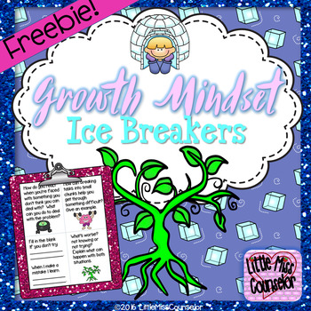 Growth Mindset Icebreakers: Set of 28 Cards