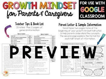 Growth Mindset for Parents: Take Home Notes for Caregivers