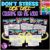 Growth Mindset Inspirational Coloring Pages: Don't Stress