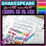 Growth Mindset Coloring Pages & Posters: Inspirational Quotes by Shakespeare