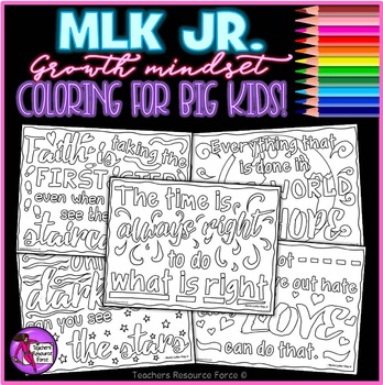 Martin Luther King Jr Quote Coloring Pages