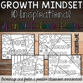 Growth Mindset Inspirational Coloring Pages in Spanish BUNDLE