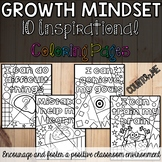 Growth Mindset Inspirational Coloring Pages with pictures BUNDLE
